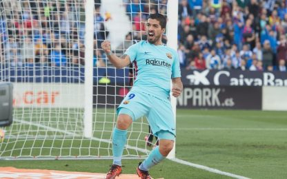 Suarez trascina il Barça: Leganes battuto 3-0