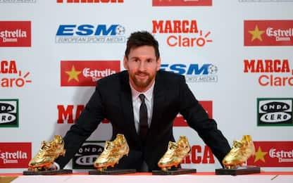 Messi riceve la 4^ Scarpa d'Oro. Eguagliato CR7
