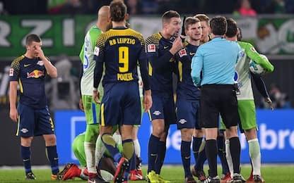 Bundesliga, il Wolfsburg ferma il Lipsia 1-1