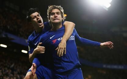 Chelsea-Brighton 2-0, decidono Morata e Alonso