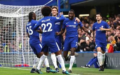 Goleada Chelsea, al Liverpool basta Salah
