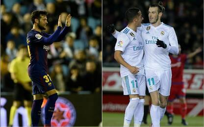 Coppa del Re: pari Barça, vince il Real