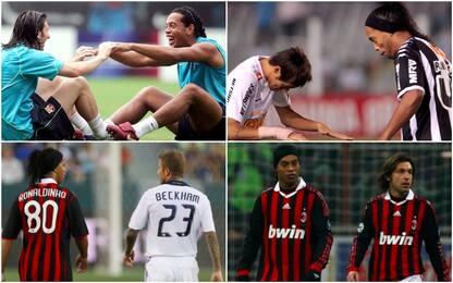 Il calcio saluta Ronaldinho, c'è anche Pelé