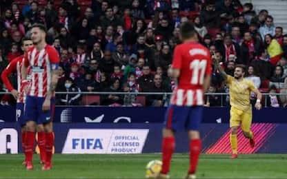 Botta alla Liga: Atletico fermato, Valencia ko