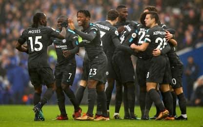 Il Chelsea di Conte cala il poker, Brighton ko 4-0