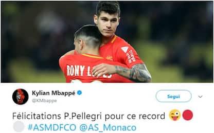 Esordio Pellegri col Monaco: Mbappé si congratula