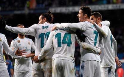 Ronaldo ne fa due, il Real batte 3-1 il Getafe