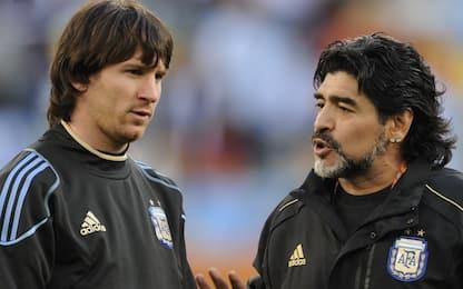 Messi, altro gol su punizione: merito di Maradona