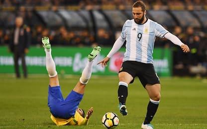 Higuain sfida l'Italia, i convocati di Sampaoli