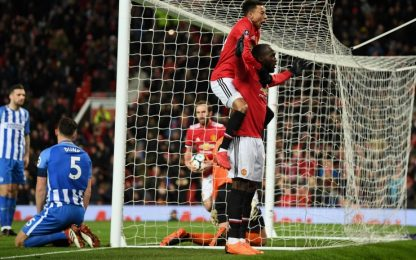 FA Cup, United in semifinale: 2-0 al Brighton