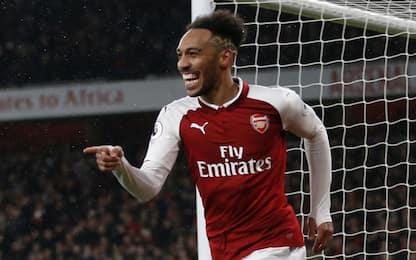 Aubameyang-gol, l'Arsenal vola: 5-1 all'Everton