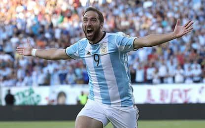 Argentina, convocato Higuain: out Icardi e Dybala