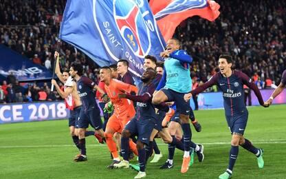 PSG campione di Francia: travolto il Monaco