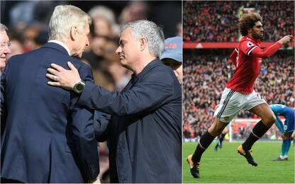 Nel finale sbuca Fellaini: United-Arsenal 2-1