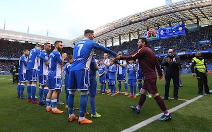 Copa e Iniesta: il pasillo del Depor per il Barça