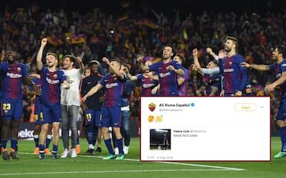 """""""Non ci batte nessuno"""". La Roma risponde al Barça"""