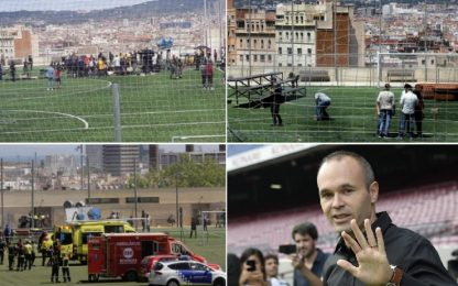 L'intervista tv a Iniesta finisce male: 18 feriti