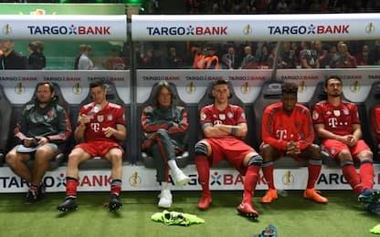 Bayern ko in Coppa: diserta cerimonia Eintracht