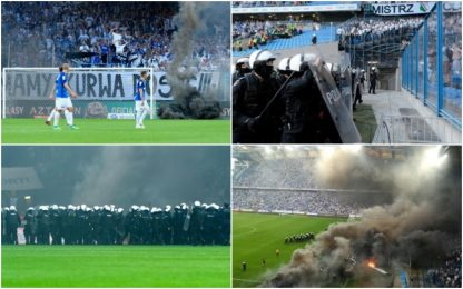 Legia campione in casa Lech: follia ultras. VIDEO