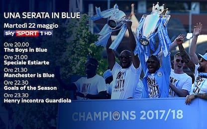 """Sky celebra il Man City con """"Una serata in Blue"""""""