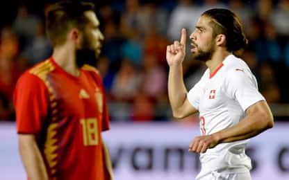 Rodriguez frena la Spagna, 1-1 contro la Svizzera