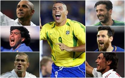"""Ronaldo, top 11 da """"Fenomeno"""": sì Messi no CR7"""