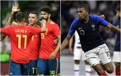 La Spagna soffre ma vince, Mbappé salva la Francia