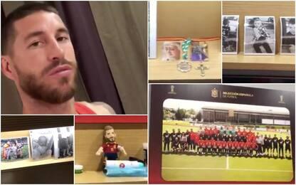 Foto, musica e santini: nella tana di Ramos. VIDEO