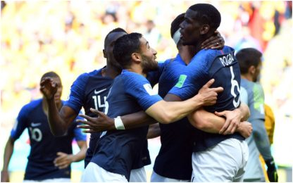 La Francia vince a fatica, Australia ko 2-1