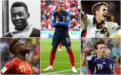 Mbappé e i teenager Mondiali, gol da giovanissimi