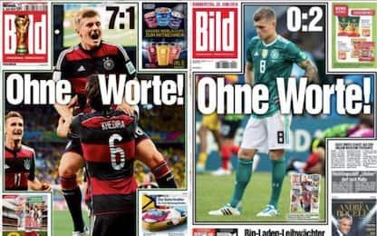 """Germania out, Bild """"senza parole"""" come 4 anni fa"""