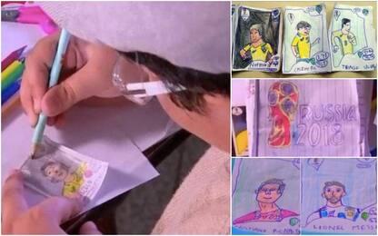 L'album costa troppo, Pedro si disegna le figurine