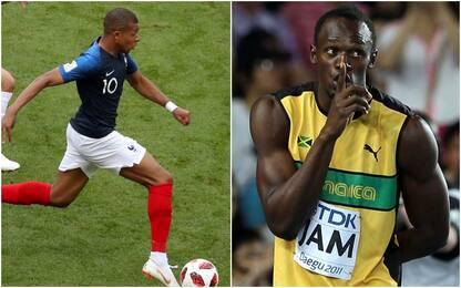 Mbappé più veloce di Bolt? Ecco la verità