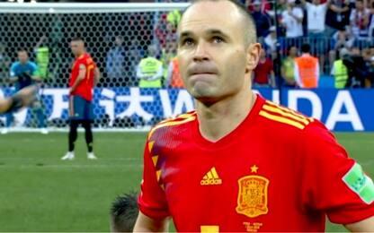 Panchina, rigori e lacrime: Don Andrés dice addio
