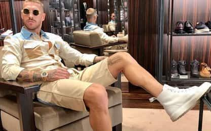 Sergio Ramos e il look da 1 milione di like