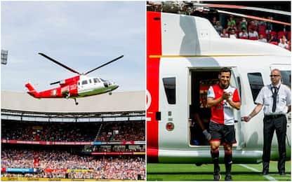 Feyenoord, i nuovi acquisti arrivano in elicottero