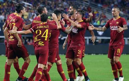 La Roma cala il poker, Barça battuto 4-2