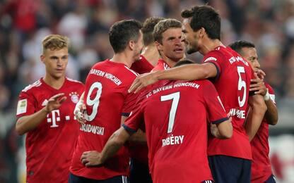Bayern, 3-0 a Stoccarda e 1° posto col Wolfsburg