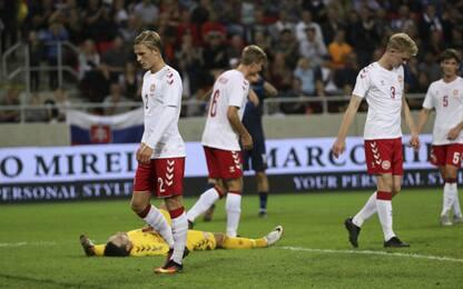 """Caos Danimarca: """"futsal"""" ko 3-0 con la Slovacchia"""