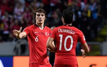 Calha trascina la Turchia, Panucci ko in Scozia