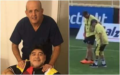"""Il dottore di Maradona: """"Ginocchia? Va operato"""""""