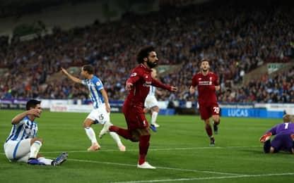 Poco Liverpool ma c'è Salah: 0-1 all'Huddersfield
