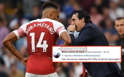Auba contro Emery, spunta un retweet galeotto
