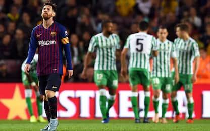 Barça, Messi non basta: il Betis vince 4-3