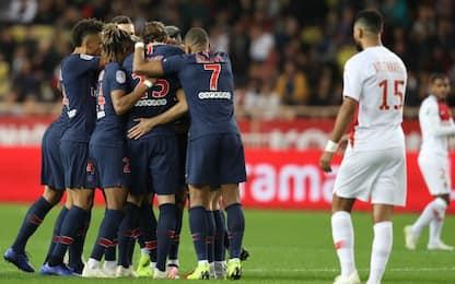 Ligue 1: il Psg fa 13 e vola, il Monaco precipita
