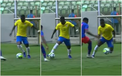 Vinicius come Dinho, elastico da spot in tv. VIDEO