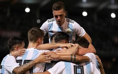 Argentina-Messico 2-0: ok Dybala, Icardi a secco