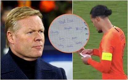 """Olanda-Final Four? Merito del """"pizzino"""" di Koeman"""