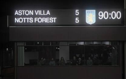 Gol e spettacolo, 5-5 tra Aston Villa e Nottingham