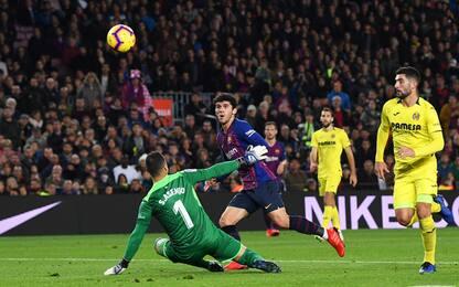 Barça, 2-0 al Villarreal. Gol del giovane Alena